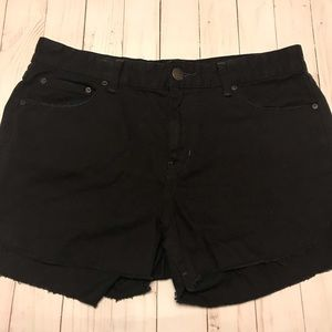 Free People Black Found Frayed Hem Shorts Size 29